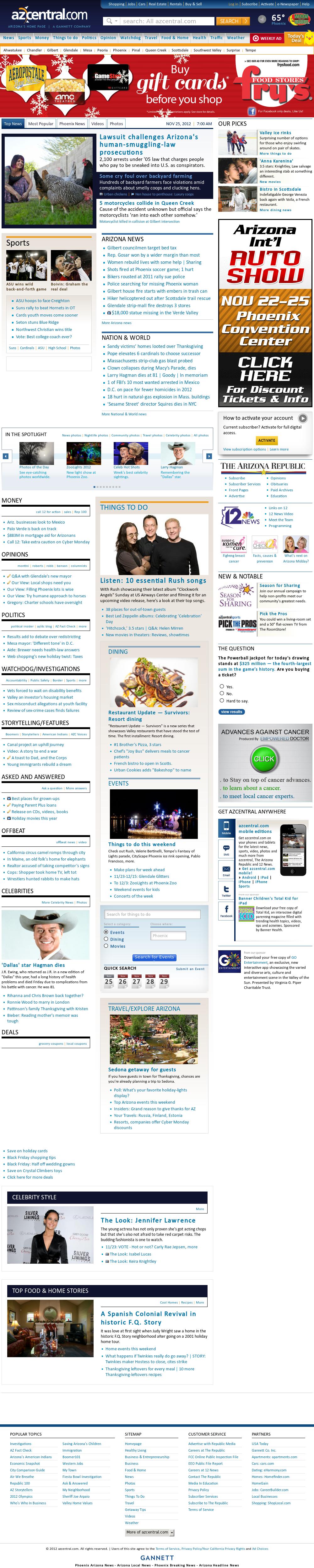 azcentral.com at Sunday Nov. 25, 2012, 7 a.m. UTC