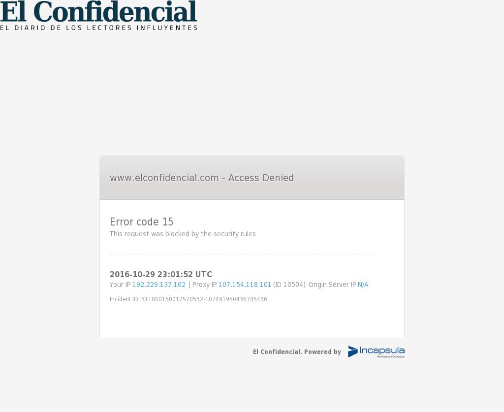 El Confidencial at Saturday Oct. 29, 2016, 11:03 p.m. UTC