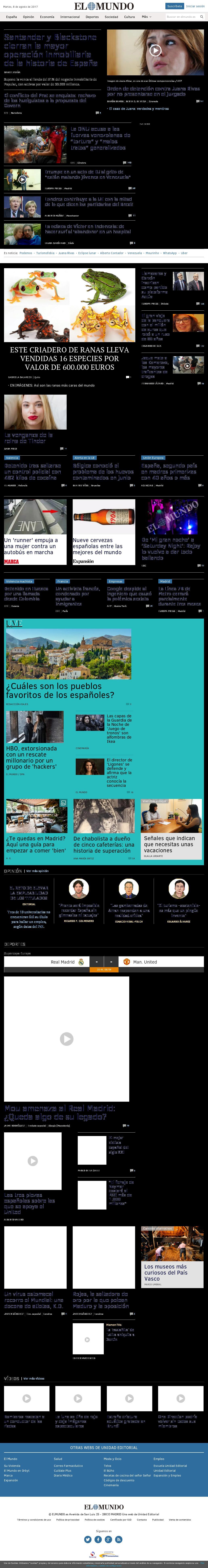 El Mundo at Tuesday Aug. 8, 2017, 4:12 p.m. UTC