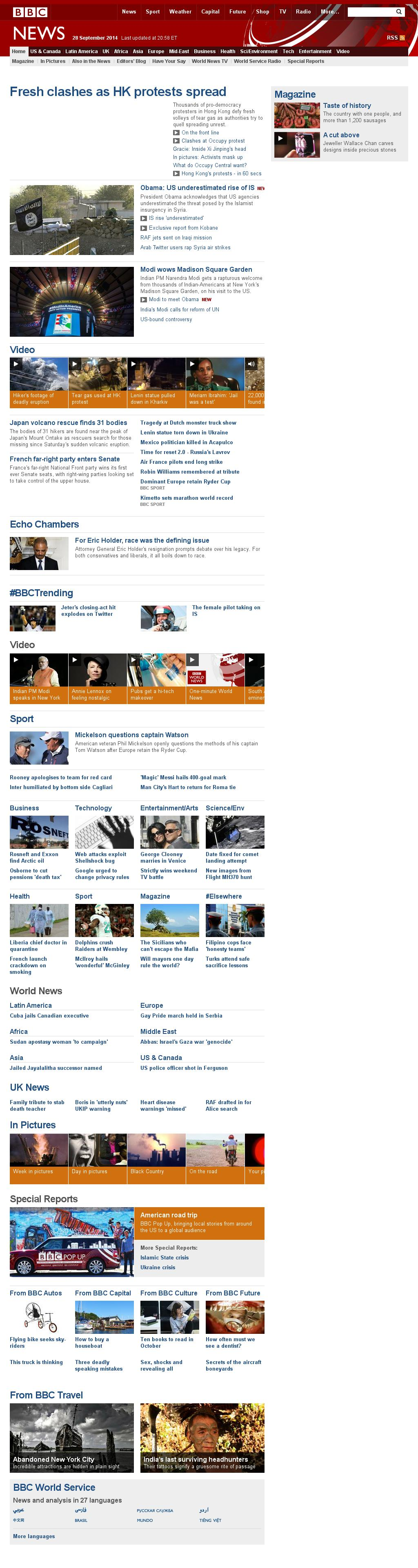 BBC at Monday Sept. 29, 2014, 1 a.m. UTC