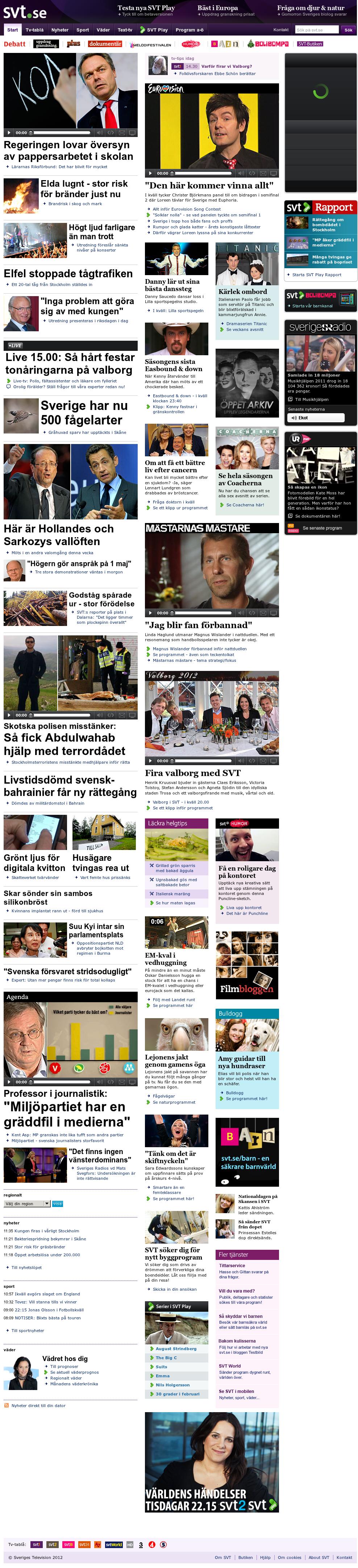 SVT at Monday April 30, 2012, 10:11 a.m. UTC