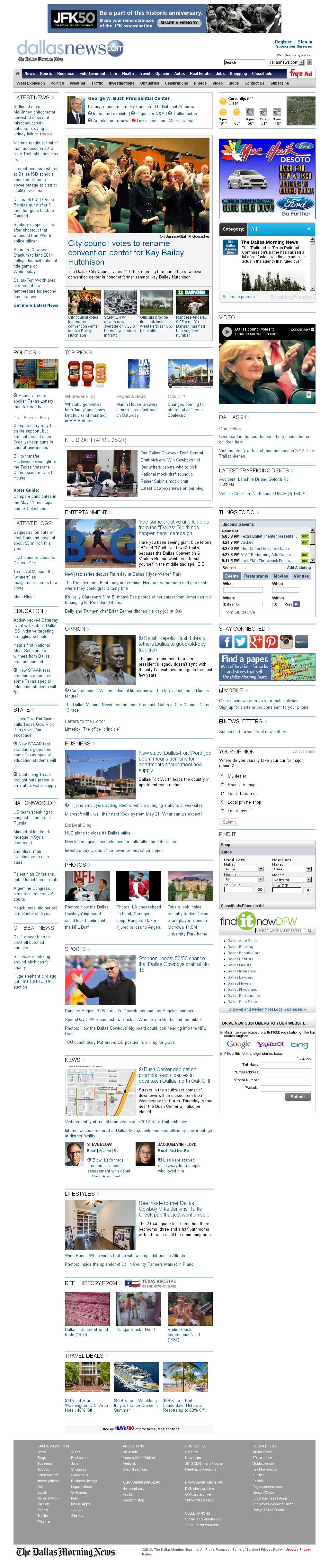 dallasnews.com at Wednesday April 24, 2013, 7:04 p.m. UTC