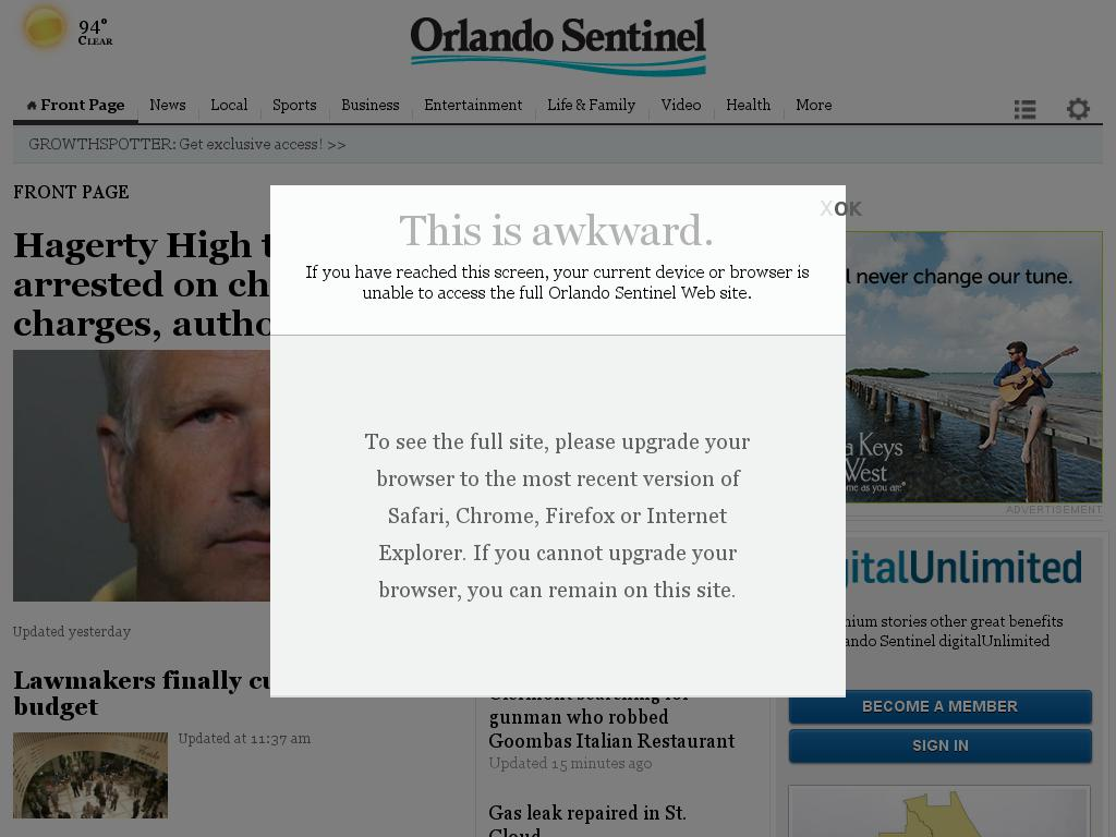 Orlando Sentinel at Tuesday June 16, 2015, 6:19 p.m. UTC