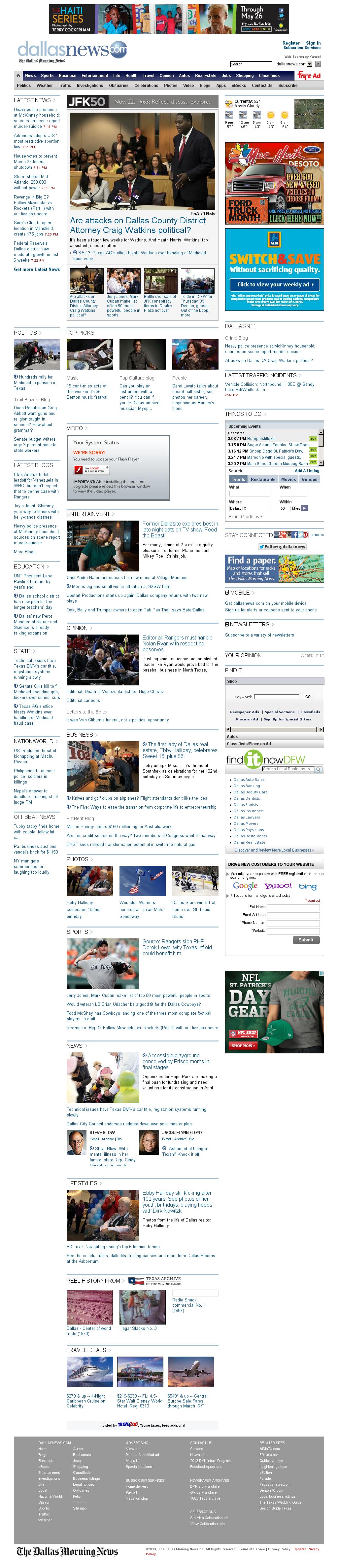 dallasnews.com at Thursday March 7, 2013, 2:03 a.m. UTC