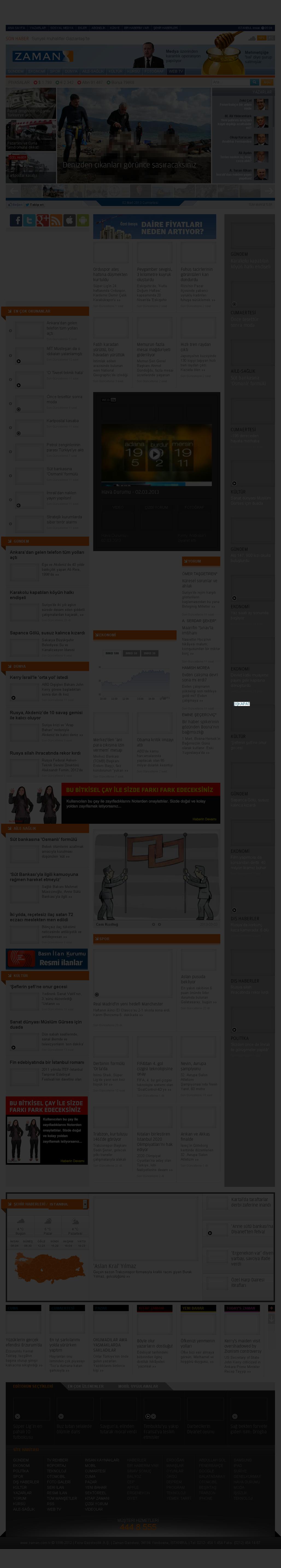 Zaman Online at Saturday March 2, 2013, 7:24 p.m. UTC