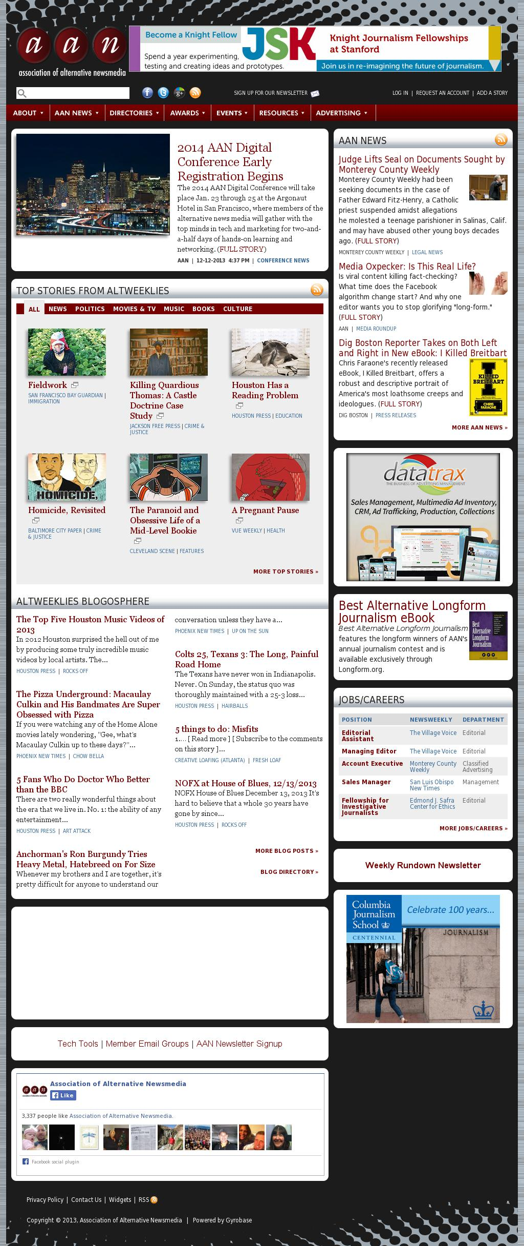 Association of Alternative Newsmedia at Monday Dec. 16, 2013, 5 p.m. UTC