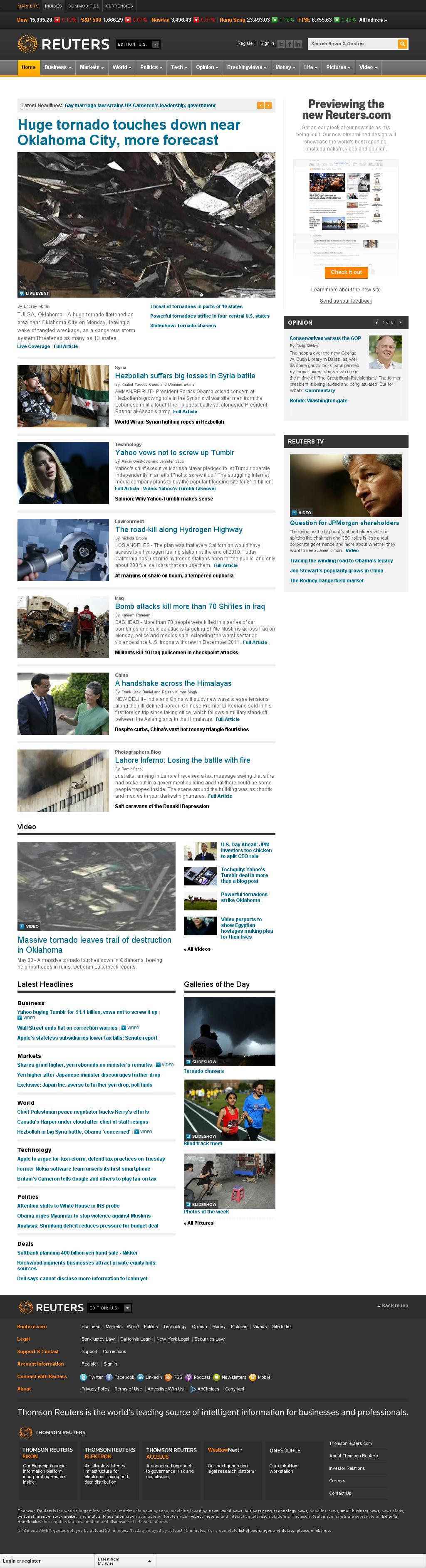 Reuters at Monday May 20, 2013, 10:20 p.m. UTC