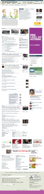 The (Spokane) Spokesman-Review at Tuesday April 2, 2013, 4:24 a.m. UTC