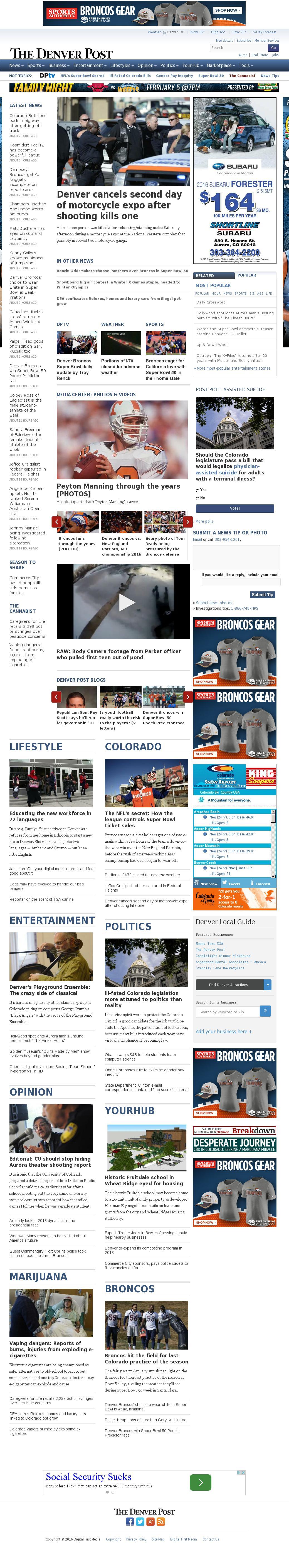 Denver Post at Sunday Jan. 31, 2016, 3:04 a.m. UTC