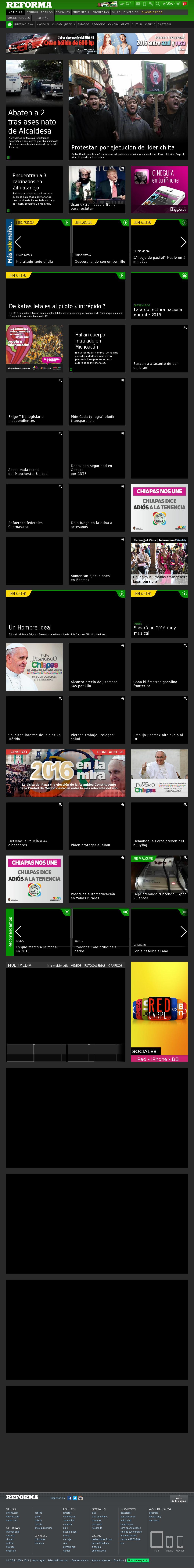 Reforma.com at Saturday Jan. 2, 2016, 9:20 p.m. UTC